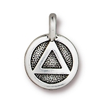 TierraCast Recovery Charm, Antique Silver